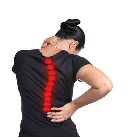 Female with back pain